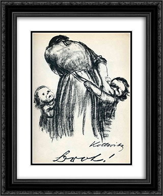 Bread! 20x24 Black or Gold Ornate Framed and Double Matted Art Print by Kathe Kollwitz