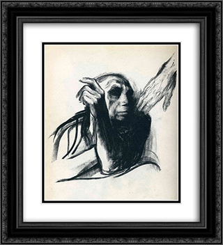 Call of Death 20x22 Black or Gold Ornate Framed and Double Matted Art Print by Kathe Kollwitz