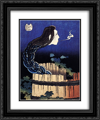 A woman ghost appeared from a well 20x24 Black or Gold Ornate Framed and Double Matted Art Print by Katsushika Hokusai