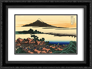 Dawn at Isawa in the Kai province 24x18 Black or Gold Ornate Framed and Double Matted Art Print by Katsushika Hokusai