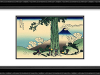 Mishima pass in Kai province 24x18 Black or Gold Ornate Framed and Double Matted Art Print by Katsushika Hokusai