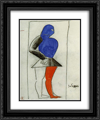 Brawler 20x24 Black or Gold Ornate Framed and Double Matted Art Print by Kazimir Malevich