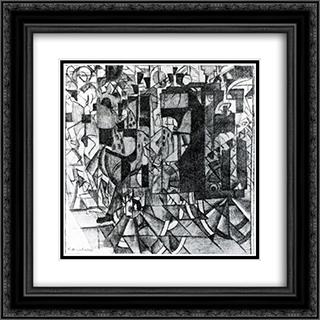 Moving Carriage 20x20 Black or Gold Ornate Framed and Double Matted Art Print by Kazimir Malevich