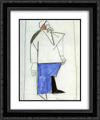 Old Timer 20x24 Black or Gold Ornate Framed and Double Matted Art Print by Kazimir Malevich