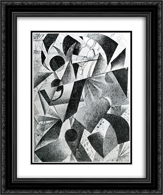 Pilot 20x24 Black or Gold Ornate Framed and Double Matted Art Print by Kazimir Malevich