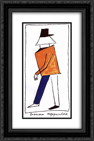 Sneaky 16x24 Black or Gold Ornate Framed and Double Matted Art Print by Kazimir Malevich