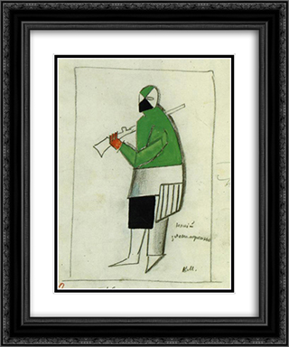Someone Wicked 20x24 Black or Gold Ornate Framed and Double Matted Art Print by Kazimir Malevich