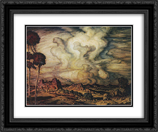 A cloud 24x20 Black or Gold Ornate Framed and Double Matted Art Print by Konstantin Bogaevsky