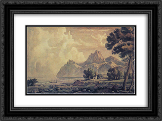 After the rain 24x18 Black or Gold Ornate Framed and Double Matted Art Print by Konstantin Bogaevsky