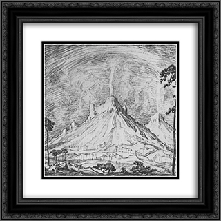 Altars in the desert 20x20 Black or Gold Ornate Framed and Double Matted Art Print by Konstantin Bogaevsky