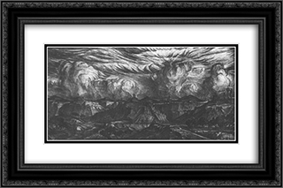 Ancient land 24x16 Black or Gold Ornate Framed and Double Matted Art Print by Konstantin Bogaevsky