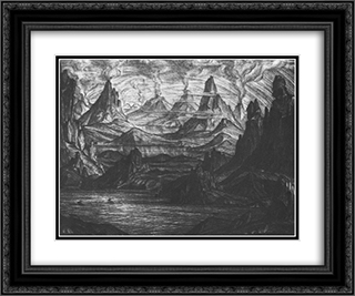 Atlantis 24x20 Black or Gold Ornate Framed and Double Matted Art Print by Konstantin Bogaevsky