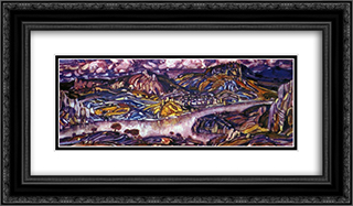 Cimmerian twilight 24x14 Black or Gold Ornate Framed and Double Matted Art Print by Konstantin Bogaevsky