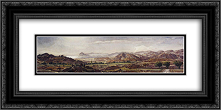Crimean Campagna 24x12 Black or Gold Ornate Framed and Double Matted Art Print by Konstantin Bogaevsky