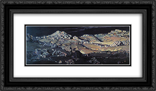 Desert. Tale. 24x14 Black or Gold Ornate Framed and Double Matted Art Print by Konstantin Bogaevsky
