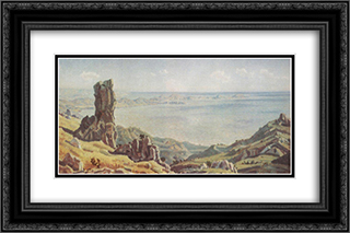 Devil's finger 24x16 Black or Gold Ornate Framed and Double Matted Art Print by Konstantin Bogaevsky