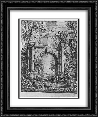 Frontispiece 20x24 Black or Gold Ornate Framed and Double Matted Art Print by Konstantin Bogaevsky