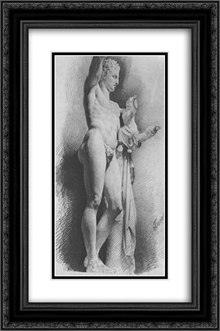 Hermes 16x24 Black or Gold Ornate Framed and Double Matted Art Print by Konstantin Bogaevsky