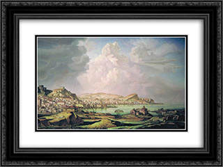 Kaffa (Old Feodosia) 24x18 Black or Gold Ornate Framed and Double Matted Art Print by Konstantin Bogaevsky