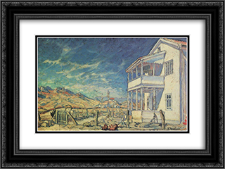 Koktebel. House of Maximilian Voloshin. 24x18 Black or Gold Ornate Framed and Double Matted Art Print by Konstantin Bogaevsky