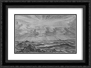 Landscape. Sun. 24x18 Black or Gold Ornate Framed and Double Matted Art Print by Konstantin Bogaevsky