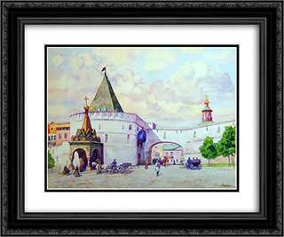 Barbara's Gate 24x20 Black or Gold Ornate Framed and Double Matted Art Print by Konstantin Yuon