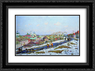 In The Province. Torzhok. Tver Governorate 24x18 Black or Gold Ornate Framed and Double Matted Art Print by Konstantin Yuon