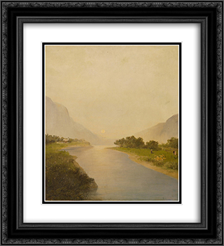 Before dusk 20x22 Black or Gold Ornate Framed and Double Matted Art Print by Konstantinos Volanakis
