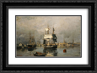 Before the storm 24x18 Black or Gold Ornate Framed and Double Matted Art Print by Konstantinos Volanakis