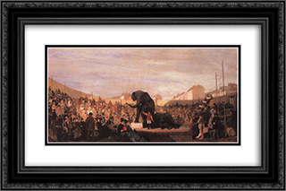 Festival in Munich 24x16 Black or Gold Ornate Framed and Double Matted Art Print by Konstantinos Volanakis