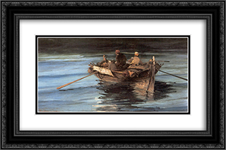 Fishing boat 24x16 Black or Gold Ornate Framed and Double Matted Art Print by Konstantinos Volanakis