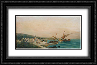Return of the Argonauts 24x16 Black or Gold Ornate Framed and Double Matted Art Print by Konstantinos Volanakis