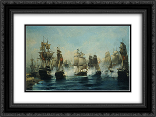 The Exodus of Ares 24x18 Black or Gold Ornate Framed and Double Matted Art Print by Konstantinos Volanakis