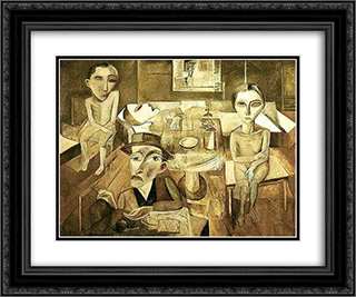 A familia enferma 24x20 Black or Gold Ornate Framed and Double Matted Art Print by Lasar Segall