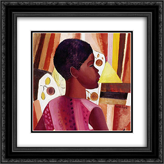 Perfil de Zulmira 20x20 Black or Gold Ornate Framed and Double Matted Art Print by Lasar Segall