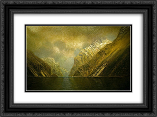 At the Iron Gate 24x18 Black or Gold Ornate Framed and Double Matted Art Print by Laszlo Mednyanszky