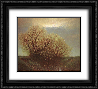 Blossoming Trees 22x20 Black or Gold Ornate Framed and Double Matted Art Print by Laszlo Mednyanszky