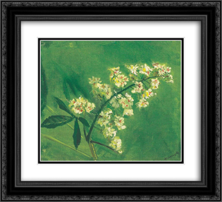 Chestnut Flower 22x20 Black or Gold Ornate Framed and Double Matted Art Print by Laszlo Mednyanszky