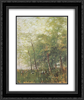 Edge of a Forest with Crosses 20x24 Black or Gold Ornate Framed and Double Matted Art Print by Laszlo Mednyanszky