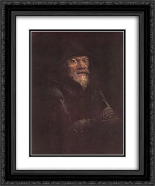 Old Man 20x24 Black or Gold Ornate Framed and Double Matted Art Print by Laszlo Mednyanszky