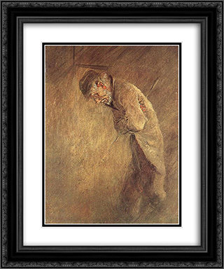 Old Tramp 20x24 Black or Gold Ornate Framed and Double Matted Art Print by Laszlo Mednyanszky