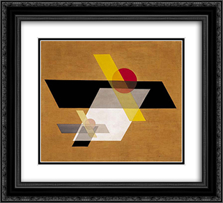 A II 22x20 Black or Gold Ornate Framed and Double Matted Art Print by Laszlo Moholy Nagy