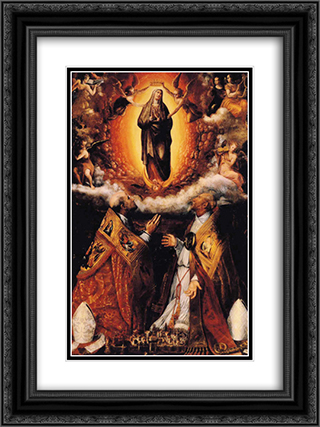 Assumption of the Virgin with Saints Peter Chrysologus, and Cassian 18x24 Black or Gold Ornate Framed and Double Matted Art Print by Lavinia Fontana