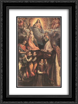 Consecration to the Virgin 18x24 Black or Gold Ornate Framed and Double Matted Art Print by Lavinia Fontana
