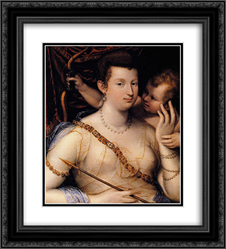 Isabella Ruini as Venus 20x22 Black or Gold Ornate Framed and Double Matted Art Print by Lavinia Fontana
