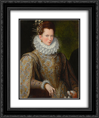 Portrait of a Lady of the Court 20x24 Black or Gold Ornate Framed and Double Matted Art Print by Lavinia Fontana