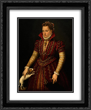 Portrait of a Noblewoman 20x24 Black or Gold Ornate Framed and Double Matted Art Print by Lavinia Fontana