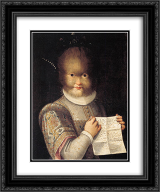 Portrait of Antonietta Gonzalez 20x24 Black or Gold Ornate Framed and Double Matted Art Print by Lavinia Fontana