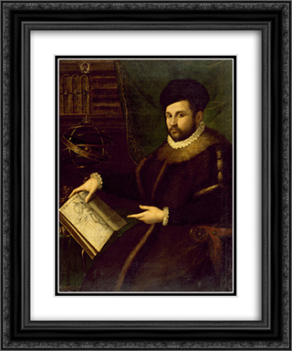 Portrait of Gerolamo Mercuriale 20x24 Black or Gold Ornate Framed and Double Matted Art Print by Lavinia Fontana