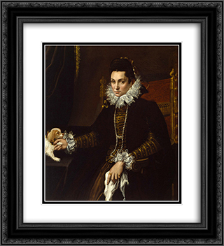 Portrait of Ginevra Aldrovandi Hercolani 20x22 Black or Gold Ornate Framed and Double Matted Art Print by Lavinia Fontana